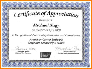 Volunteer Appreciation Certificate Template in Volunteer Certificate Template