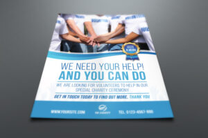 Volunteer Charity Flyer Template with Volunteer Brochure Template