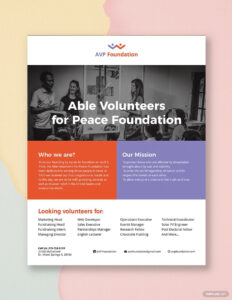 Volunteer Flyer | Nm | Flyer Template, Booklet Template inside Volunteer Brochure Template