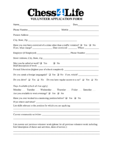Volunteer Form Template Car Pictures | Forms | Volunteer Within Volunteer Report Template