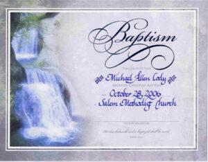 Water Baptism Certificate Templateencephaloscom regarding Roman Catholic Baptism Certificate Template