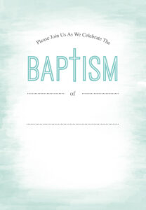 Water – Baptism & Christening Invitation Template (Free inside Blank Christening Invitation Templates