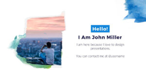 Watercolor Free Powerpoint Template – Presentations On intended for Powerpoint Templates Tourism
