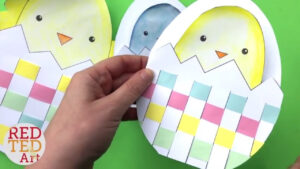 Weaving Chick Cards With Template – Easy Easter Card Diy Ideas with Easter Chick Card Template