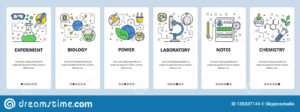 Web Site Onboarding Screens. Science Experiment In Lab with regard to Science Fair Banner Template
