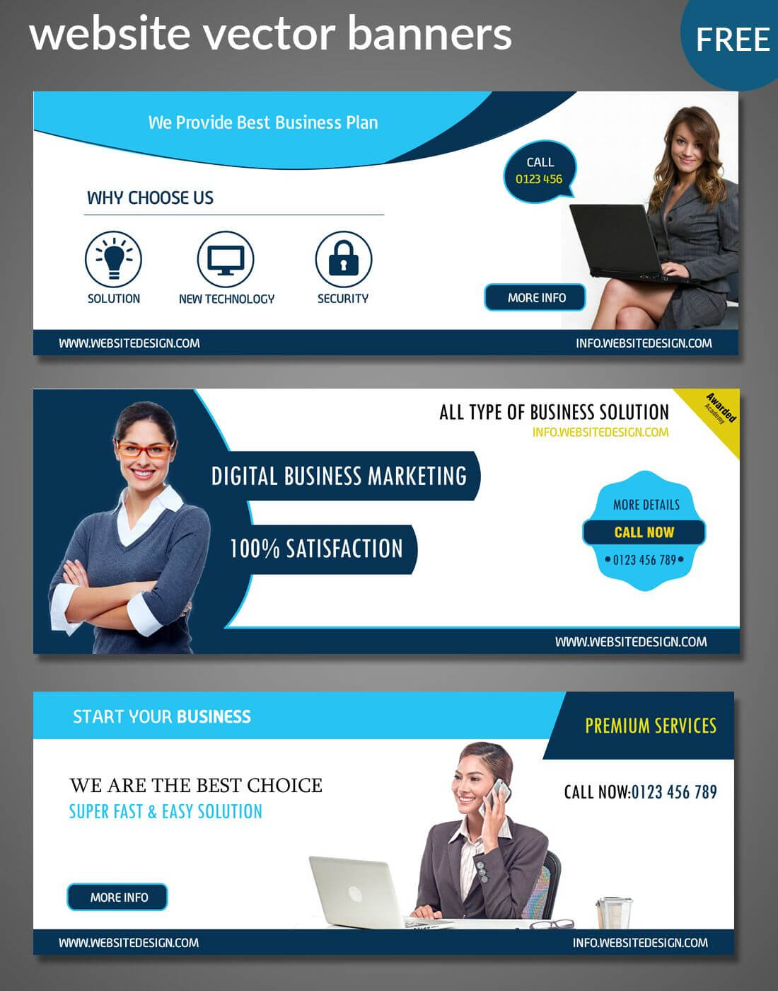 Website Banners Templates | Free Website Psd Banners Regarding Website Banner Templates Free Download