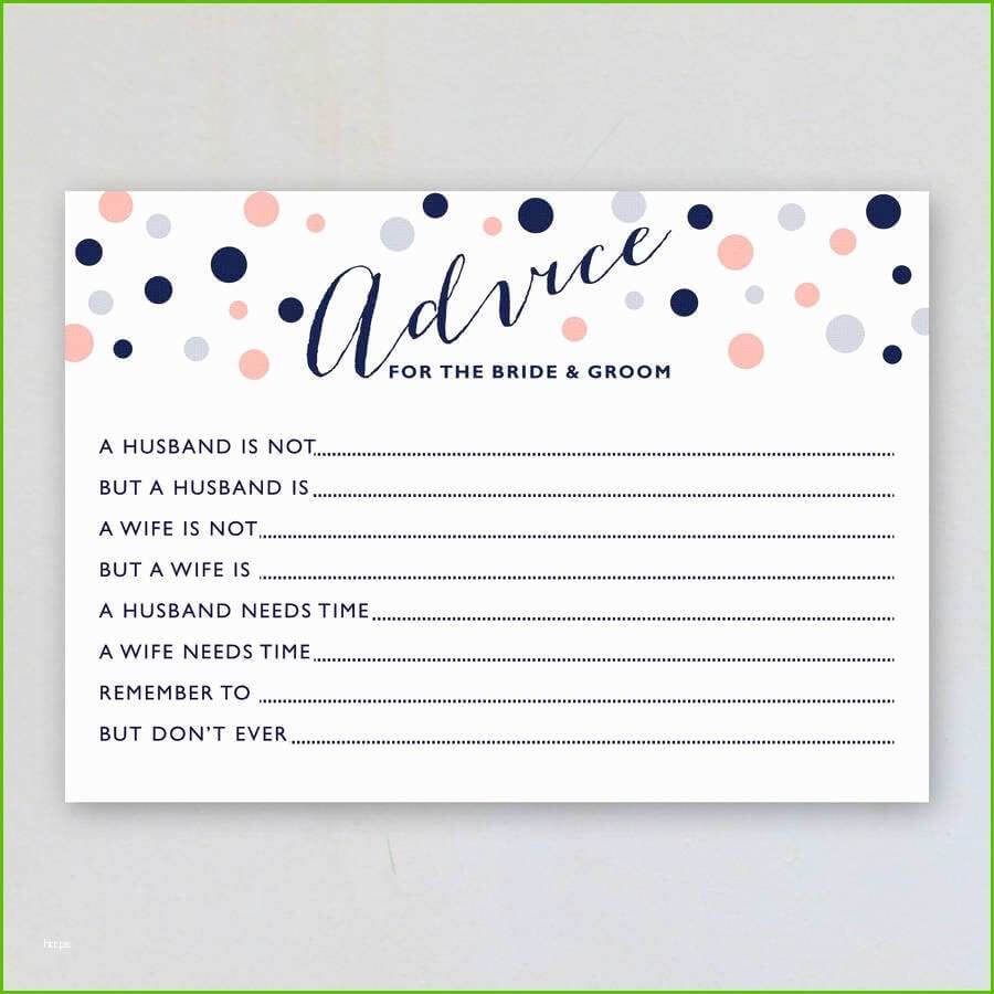 Wedding Advice Cards Template Elegant Marriage Advice Cards Throughout Marriage Advice Cards Templates