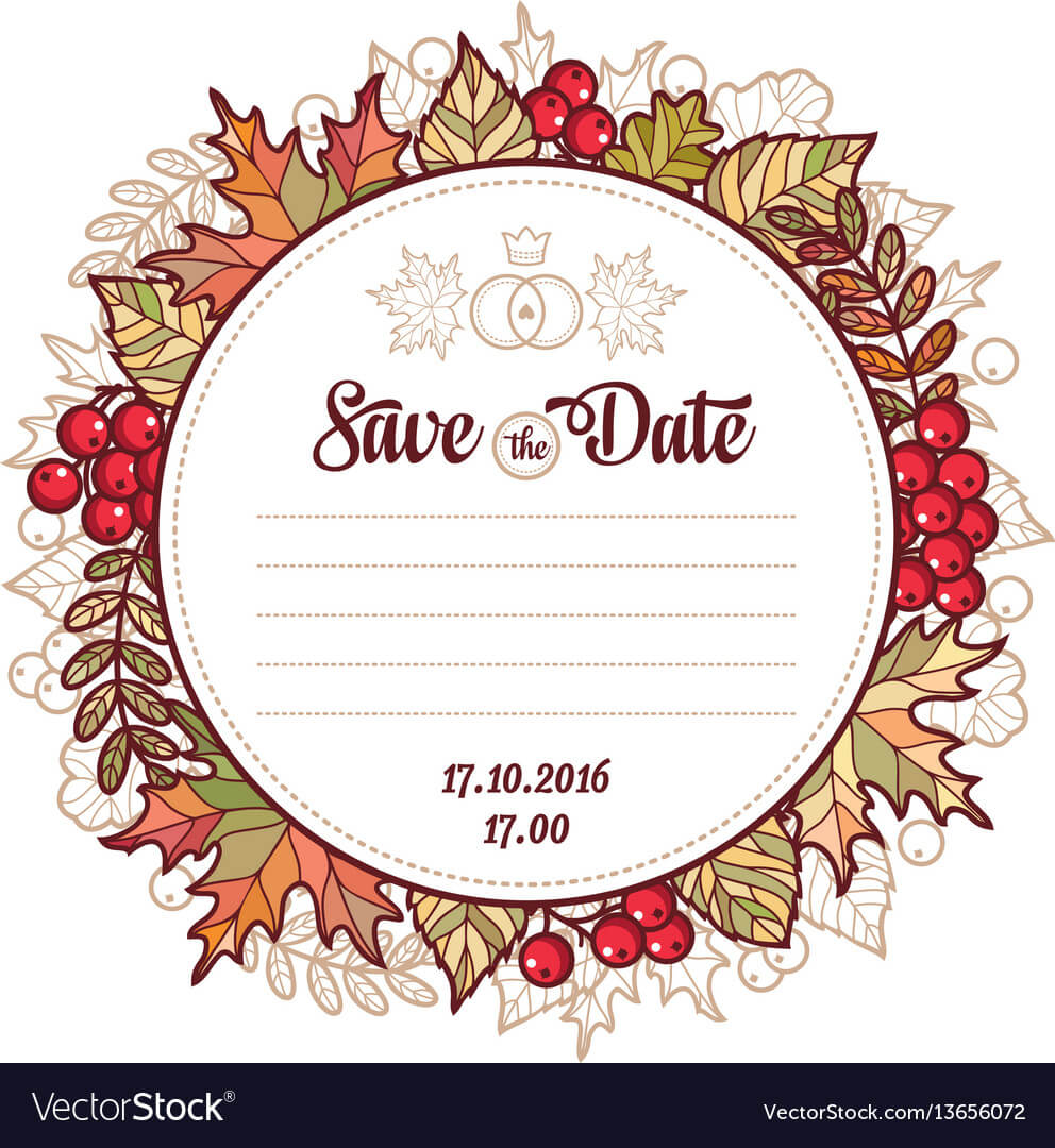 Wedding Card Template Autumn Background Invitation For Invitation Cards Templates For Marriage