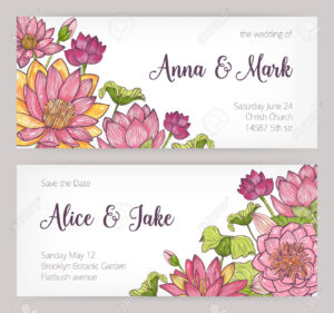 Wedding Invitation And Save The Date Card Templates Decorated.. inside Save The Date Cards Templates