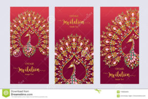 Wedding Invitation Card Templates . Stock Vector for Indian Wedding Cards Design Templates