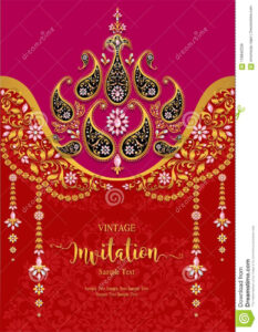 Wedding Invitation Card Templates . Stock Vector in Indian Wedding Cards Design Templates