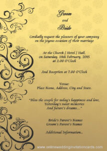 Wedding Invitation Cover Design Templates | Party Invitation Intended For Invitation Cards Templates For Marriage
