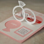 Wedding Invitation Linked Rings Pop Up Card Template intended for Wedding Pop Up Card Template Free