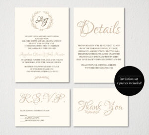 Wedding Invitation Printable/wedding Invitation Template regarding Wedding Card Size Template