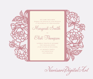 Wedding Invitation Templates Cricut • Invitation Template Ideas for Church Wedding Invitation Card Template
