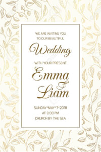 Wedding Marriage Event Invitation Rsvp Card Template. Swirly.. with Template For Rsvp Cards For Wedding