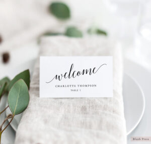 Wedding Place Card Template, Printable Escort Cards, Wedding Name Place  Cards, Place Cards Printable, Wedding Table Seating Cards, Sav-014 with regard to Printable Escort Cards Template
