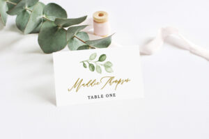Wedding Place Card Template, Printable Place Cards, Place in Printable Escort Cards Template