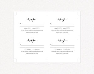 Wedding Rsvp Card Template · Wedding Templates And Printables throughout Template For Rsvp Cards For Wedding