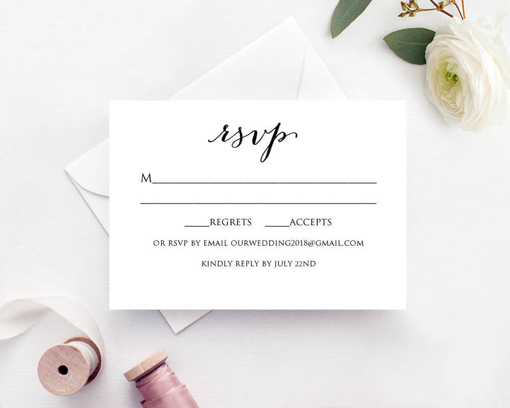 Wedding Rsvp Card Template With Free Printable Wedding Rsvp Card Templates