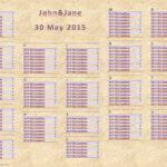 Wedding Seating Chart In Wedding Seating Chart Template Word