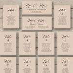 Wedding Seating Chart Template Printable Inside Wedding Seating Chart Template Word