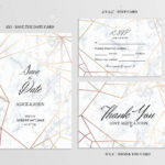 Wedding Set. Save The Date, Thank You And R.s.v.p. Cards Template.. Regarding Template For Rsvp Cards For Wedding
