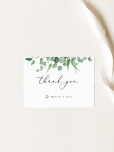 Wedding Thank You Cards Template Printable Thank You Card Wedding Thank You  Cards Wedding Favors Thank You Tags Wedding Thank You Notes within Template For Wedding Thank You Cards