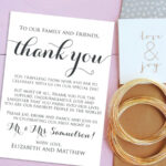 Wedding Thank You Cards, Welcome Letter Printable, Wedding Within Template For Wedding Thank You Cards