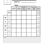 Weekly Behavior Report Template.pdf - Google Drive pertaining to Daily Behavior Report Template