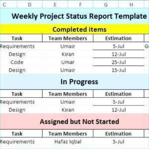 Weekly Report Template Project Management Status Doc Ppt intended for Weekly Progress Report Template Project Management