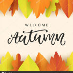 Welcome Autumn Banner Template With Bright Colorful Fall Intended For Welcome Banner Template