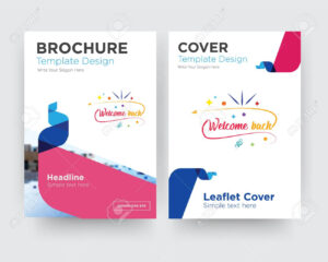 Welcome Back Brochure Flyer Design Template With Abstract Photo.. regarding Welcome Brochure Template
