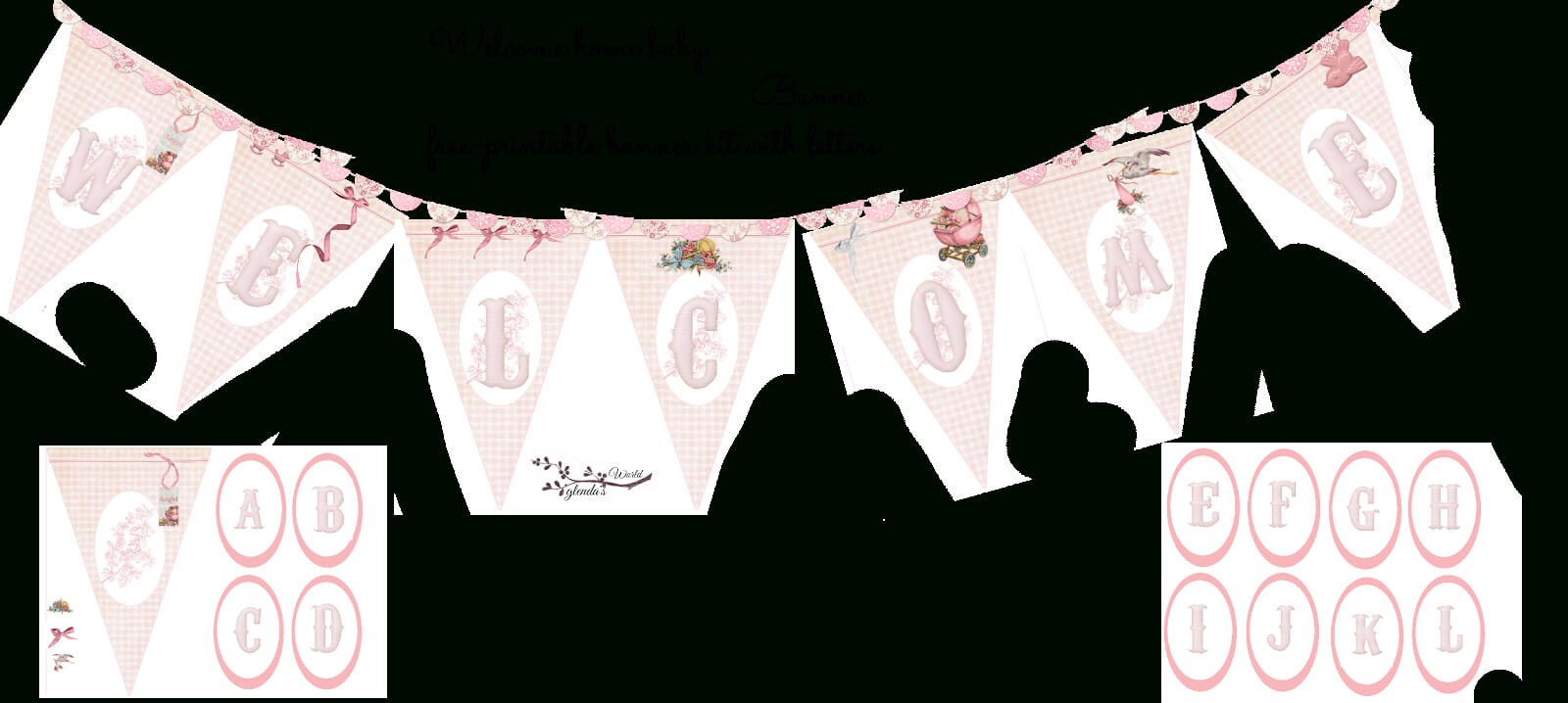 Welcome Home Baby Girl Banner | Do It Yourself Today For Christening Banner Template Free