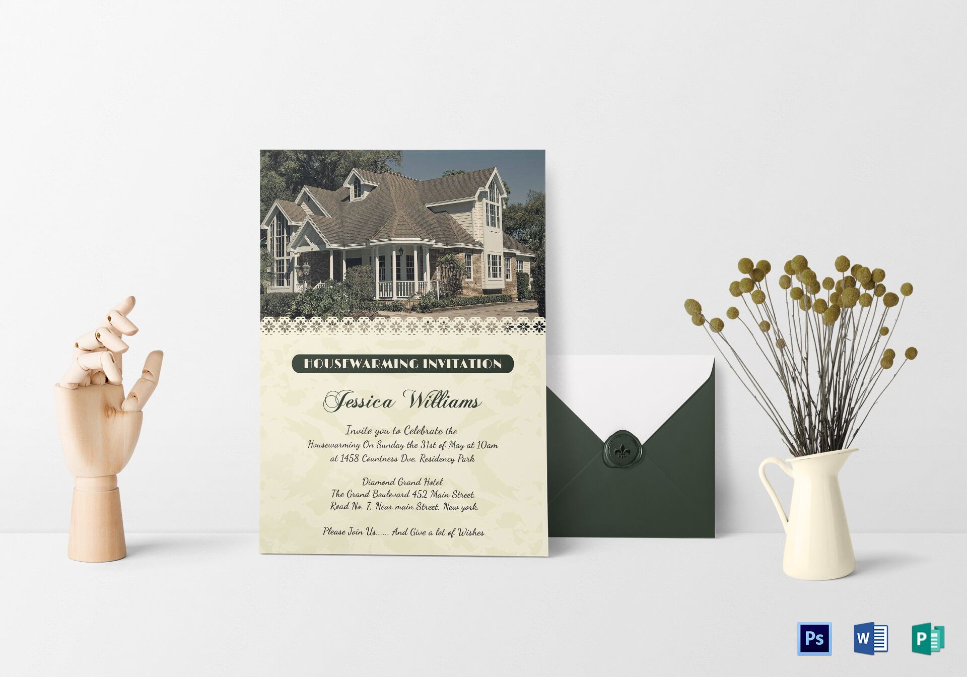 Welcoming Housewarming Invitation Card Template Inside Free Housewarming Invitation Card Template