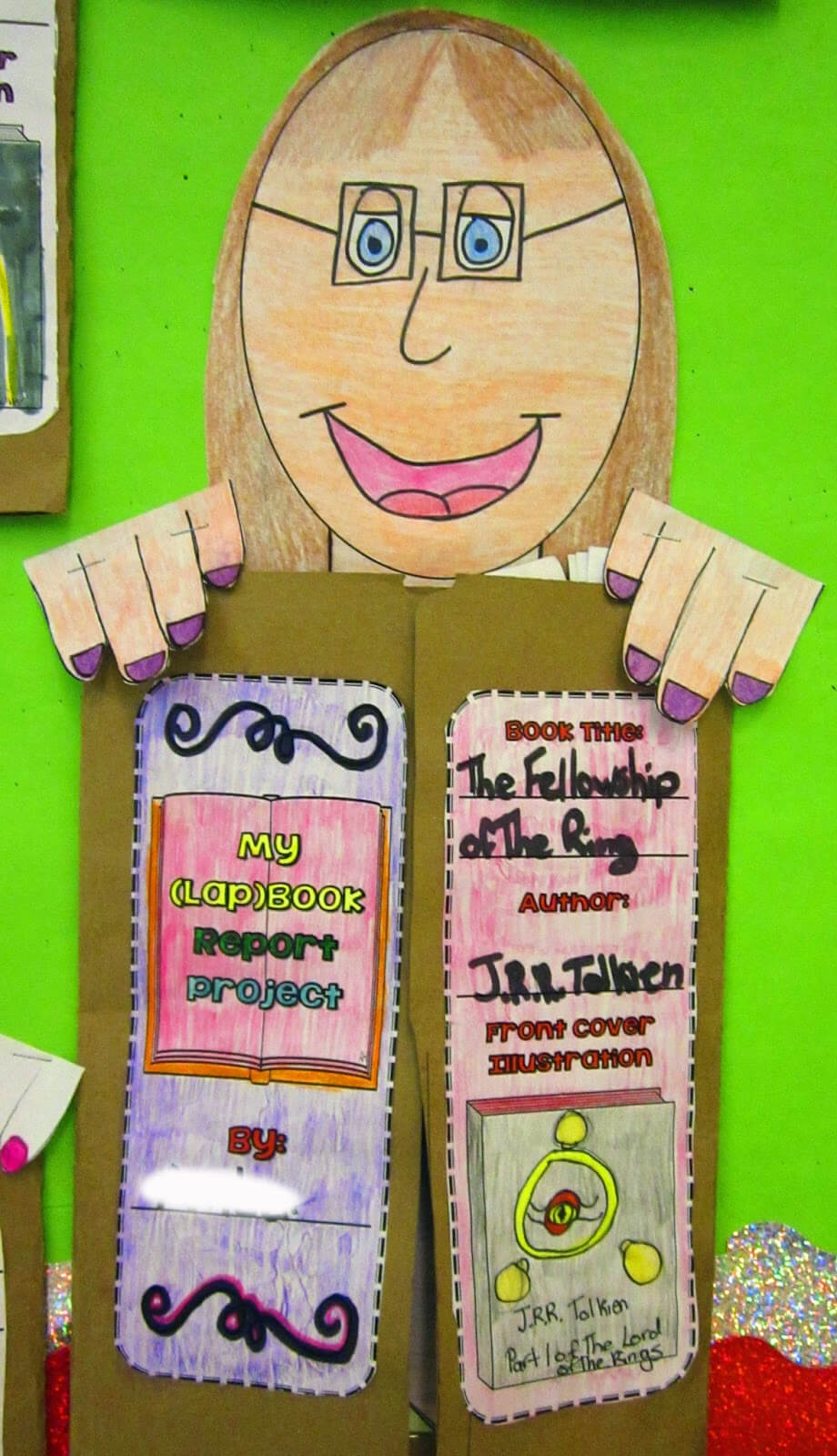 We've Got Our Heads Stuck In A Good Book | Runde's Room With Paper Bag Book Report Template