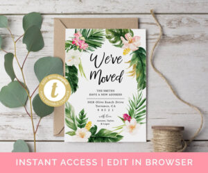 We've Moved Cards, Moving Announcement Editable Template, Home Sweet Home,  We've Moved Template, Change Of Address Card New Address Card Diy within Moving Home Cards Template