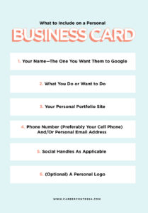 What To Put On A Personal Business Card (+ A Template intended for Networking Card Template