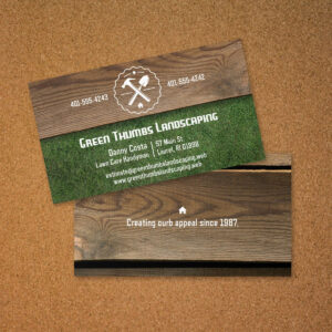 What's Out There. . . Landscaping Business Card | Ludwig in Gardening Business Cards Templates