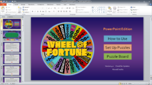Wheel Of Fortune For Powerpoint – Gamestim Within Wheel Of Fortune Powerpoint Game Show Templates