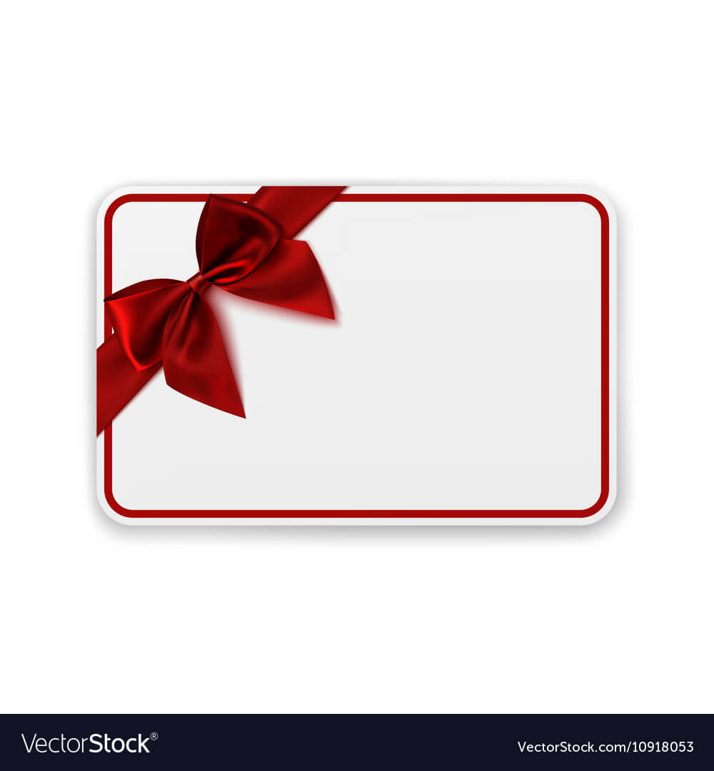 White Blank Gift Card Template Regarding Present Card Template