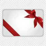 White Blank Gift Card Template With Red Ribbon And A Bow. Vector.. Regarding Present Card Template