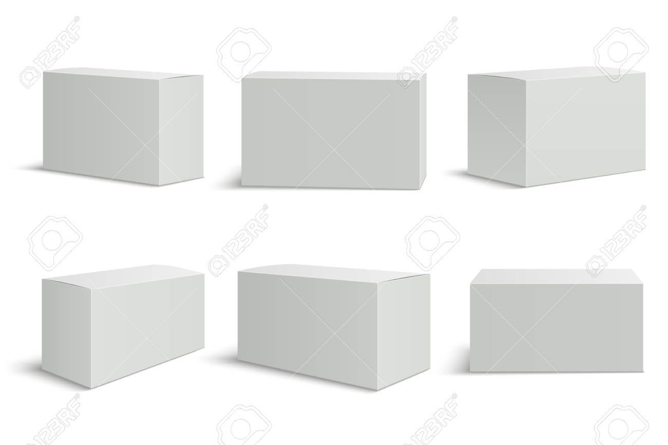 White Boxes Templates. Blank Medical Box 3D Isolated Paper Packaging Throughout Blank Packaging Templates