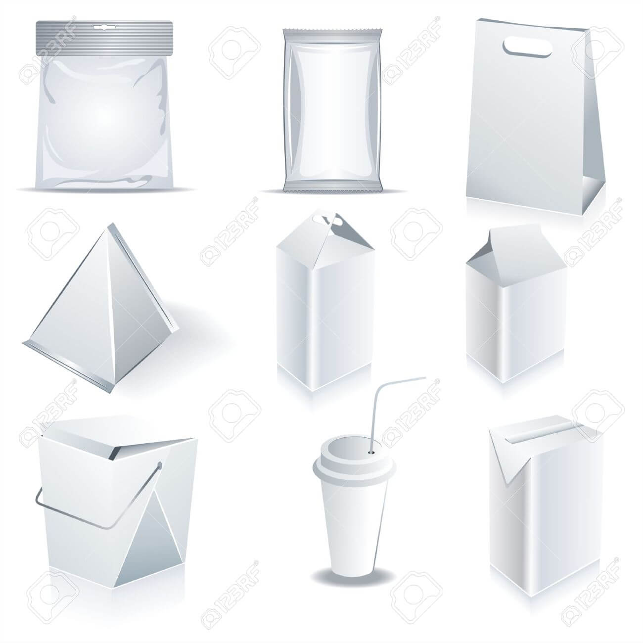 White Package Templates With Regard To Blank Packaging Templates