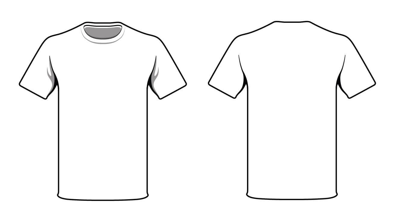 White T Shirt. Good Way To Test Your Logo And T Shirt Design Pertaining To Blank T Shirt Outline Template
