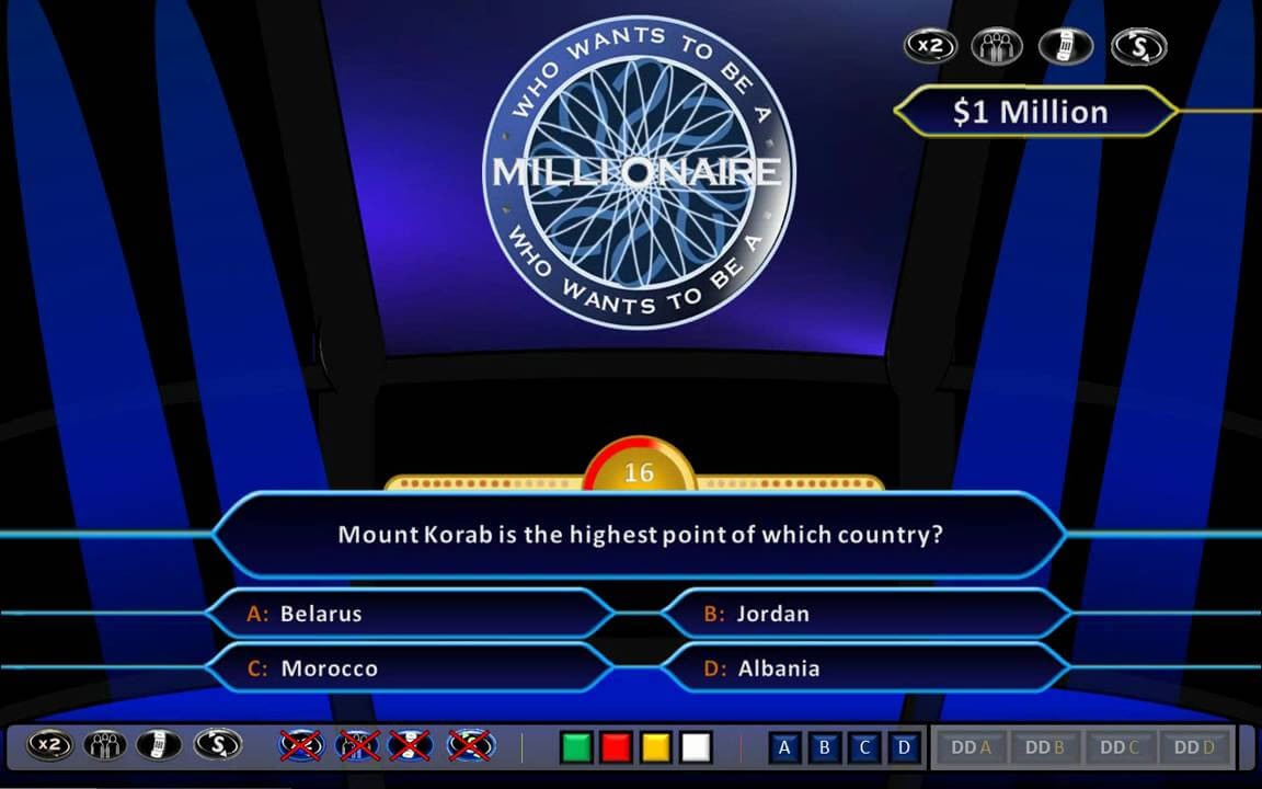 Who Wants To Be A Millionaire Demonstration [Hd, Ppt 2010, Us Clock Format] With Regard To Who Wants To Be A Millionaire Powerpoint Template