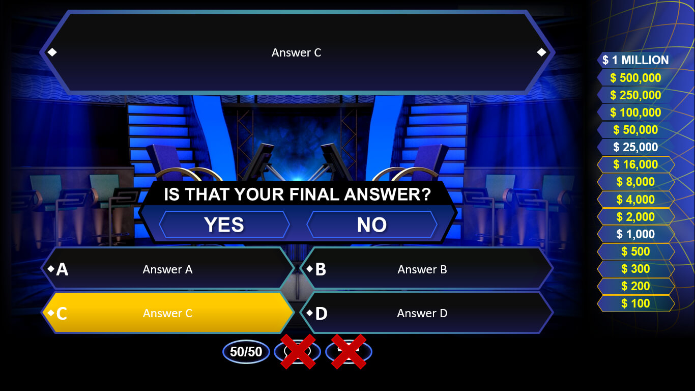 Who Wants To Be A Millionaire? | Rusnak Creative Free For Who Wants To Be A Millionaire Powerpoint Template