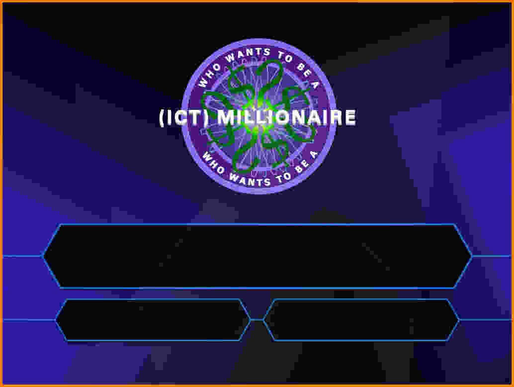 Who Wants To Be A Millionaire Template.quiz Question For Who Wants To Be A Millionaire Powerpoint Template
