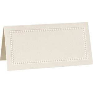 William Arthur Ecru Beaded Border Placecards | Table within Paper Source Templates Place Cards