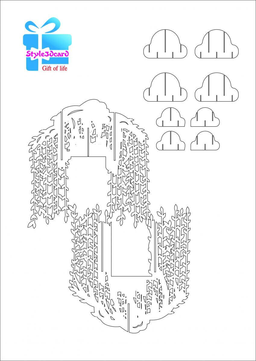Willow Tree Pop Up Card/kirigami Pattern 2 | Pop Up Cards With Regard To Pop Up Tree Card Template